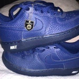 Nike Air force 1 kids navy blue size 12uk 12.5us